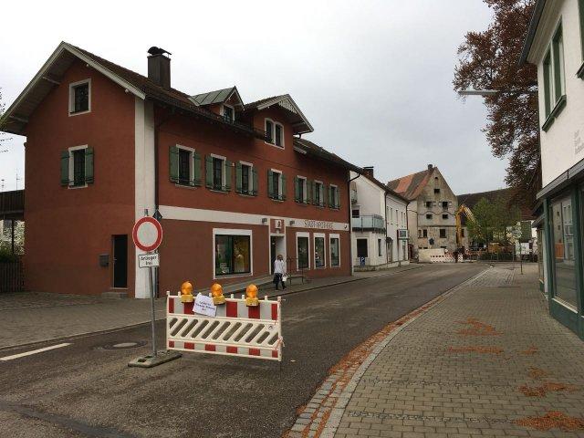 Baustelle in der Poststr. Wassertrüdingen